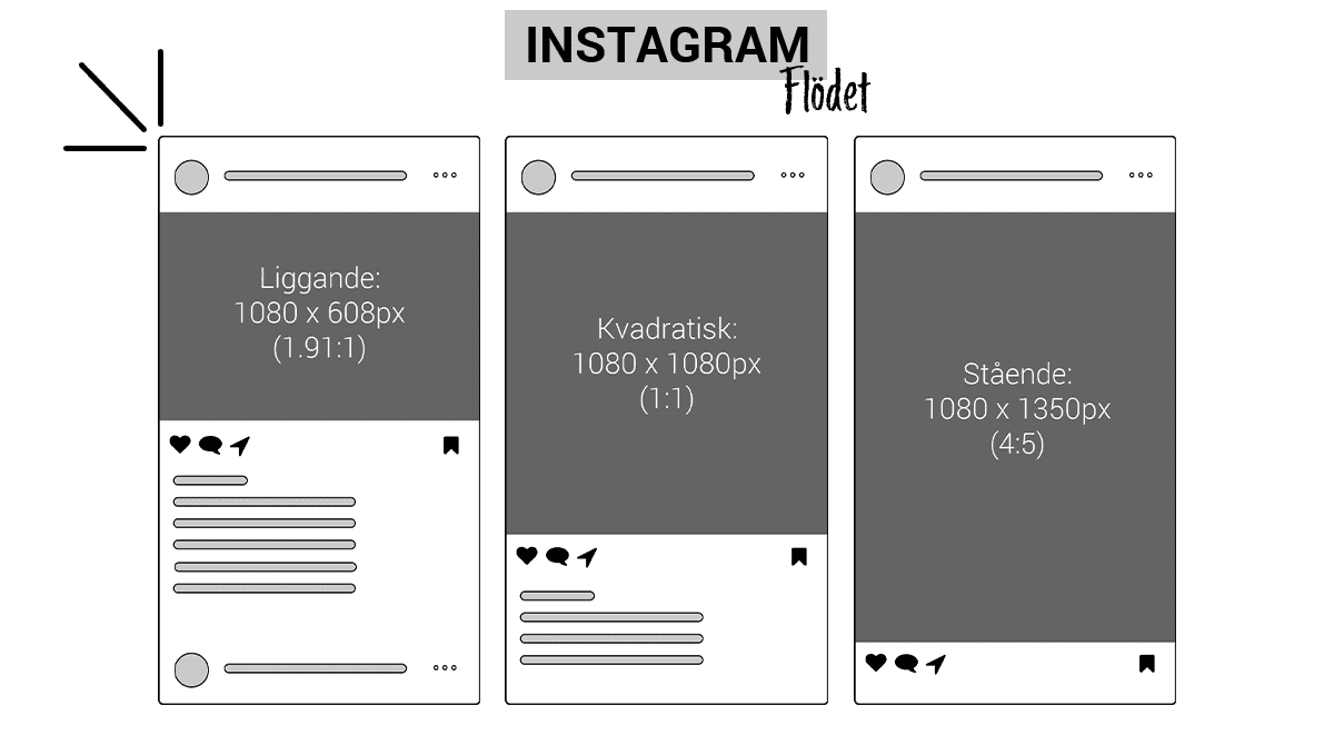Instagram Bildstorlekar i flödet 2019