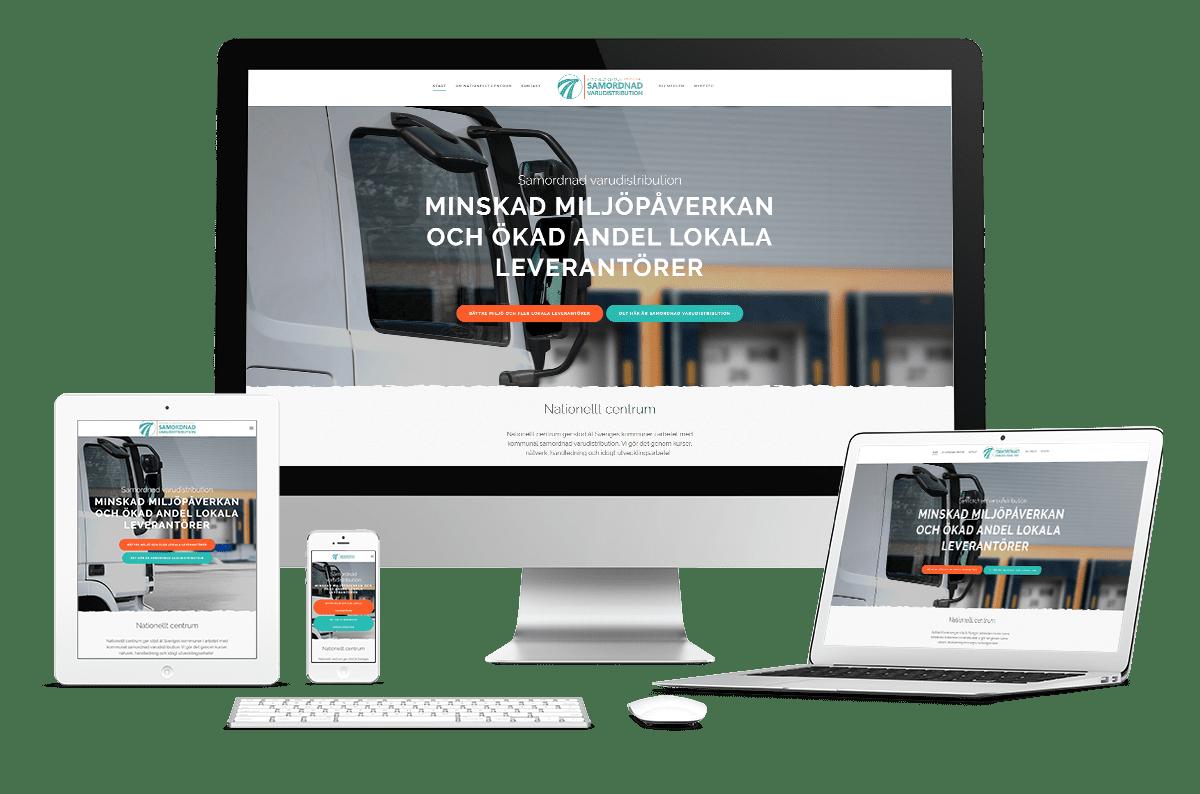 Webbplats till nationellt centrum för samordnad varudistribution