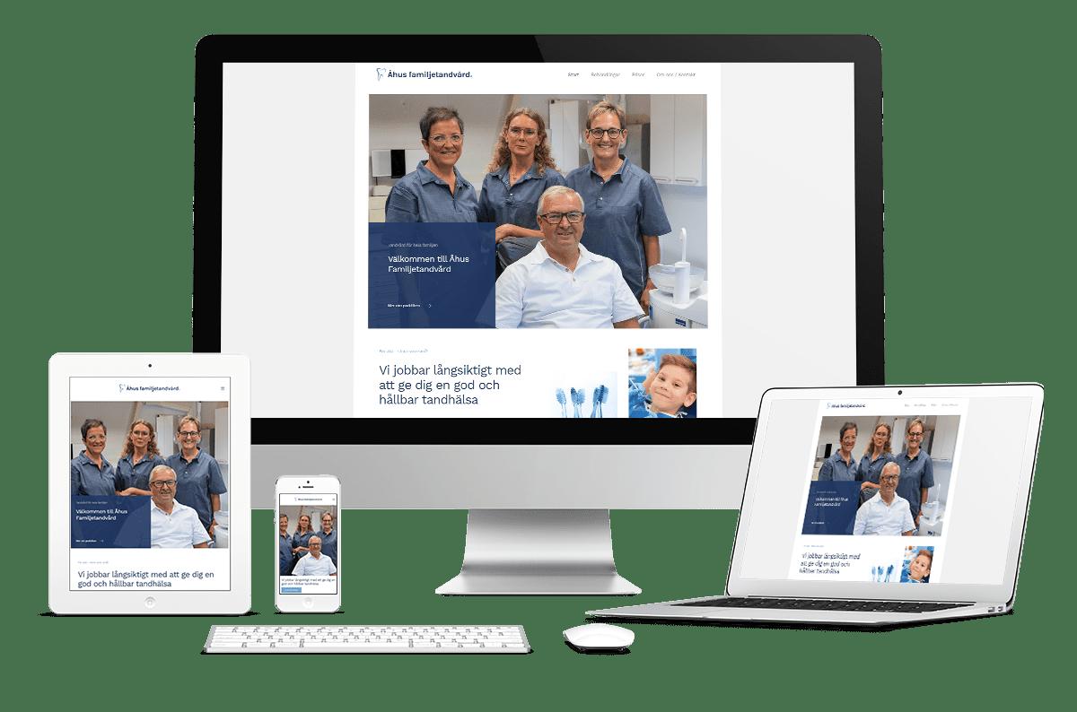 Webbplats till Åhus Familjetandvård