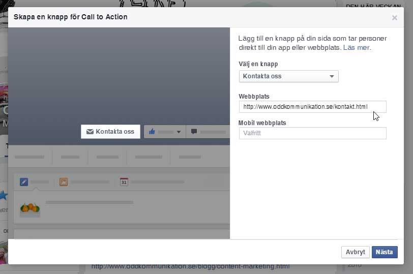 Skapa din egen Call-to-action-knapp på din Facebooksida