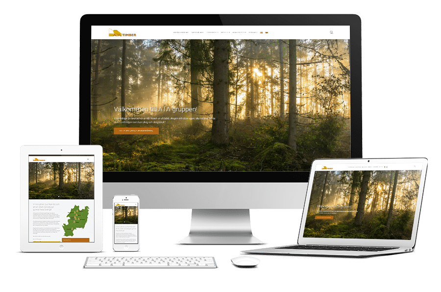 Webbplats och trycksaker till ATA Timber