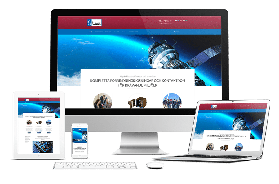 Webbplats till Glenair Nordic AB