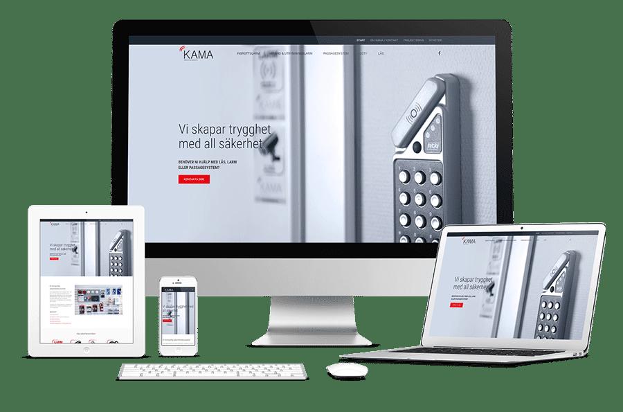 Ny webbplats till Kama Säkerhetsteknik