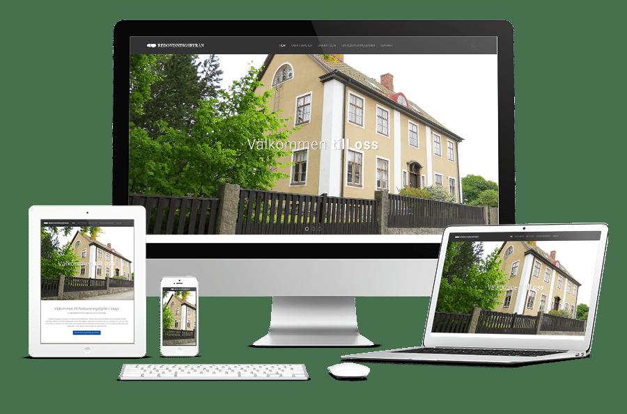 Webbplats till Redovisningsbyrån i Växjö