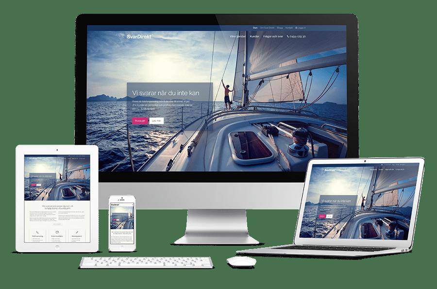 Ny webbplats till SvarDirekt