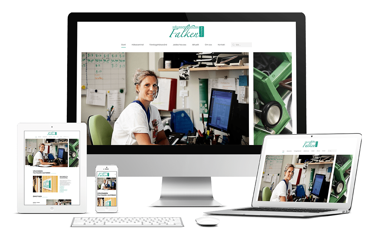 Webbplats till Hälsocentralen Falken