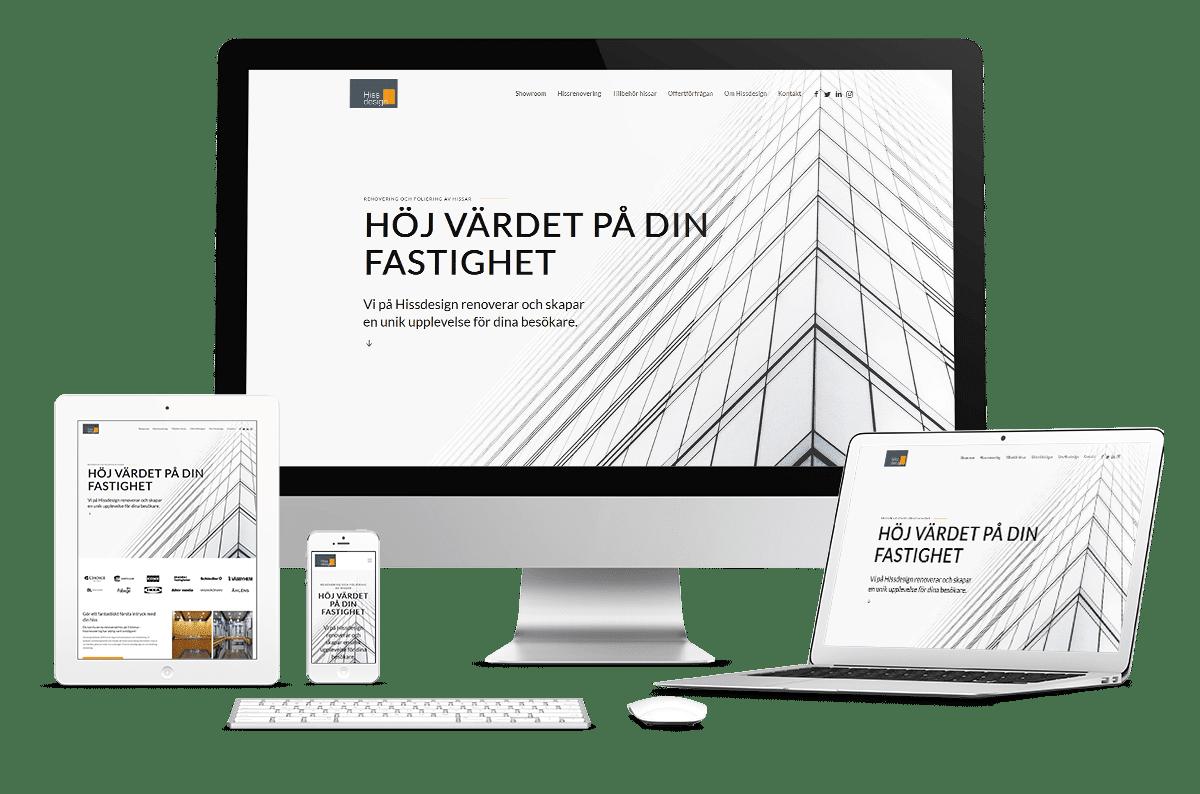 Webbplats till Hissdesign