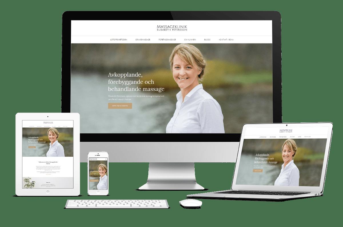 Webbplats och utbildning i sociala medier till Massagekliniken i Kalmar