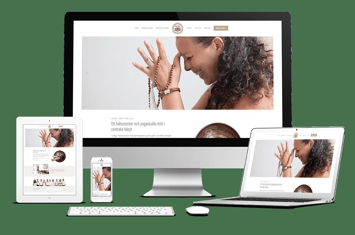 Webbplats till Nalina - body, mind, soul