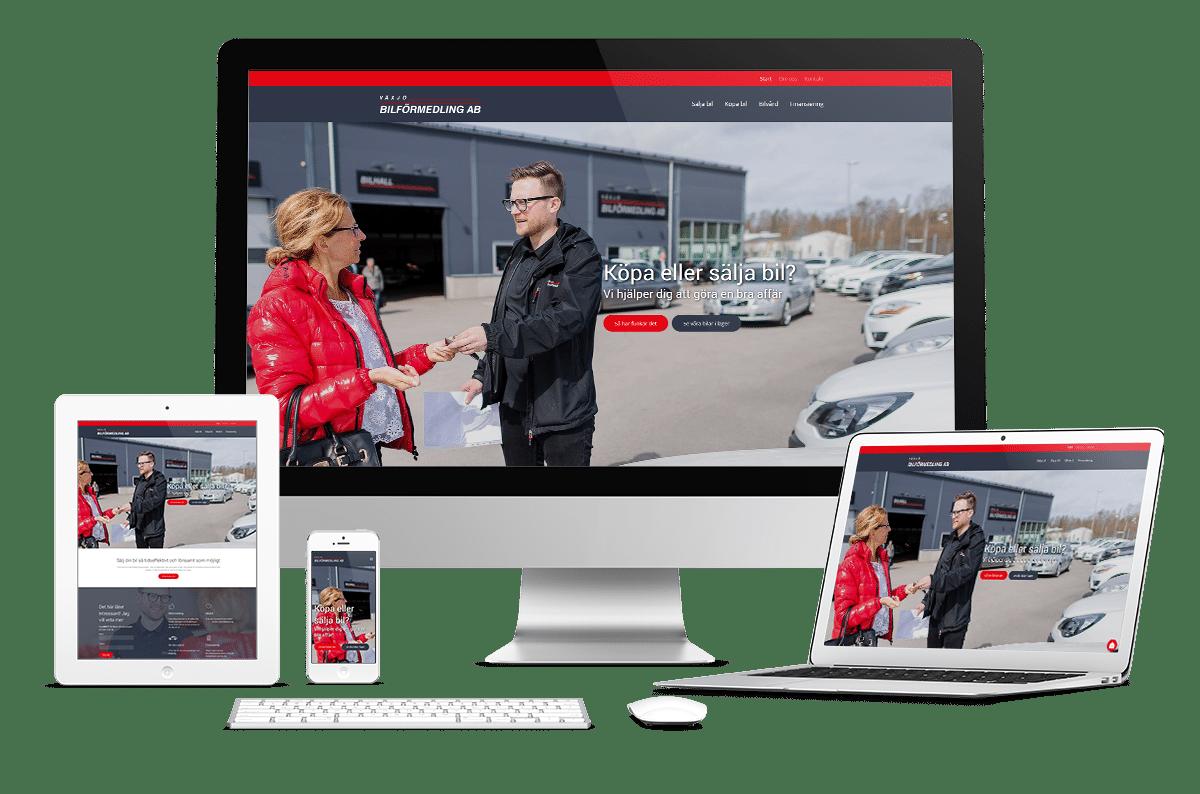 Ny webbplats till Växjö bilförmedling