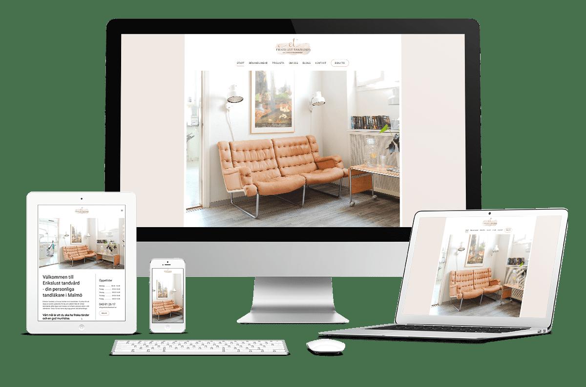 Webbplats till Erikslust Tandvård
