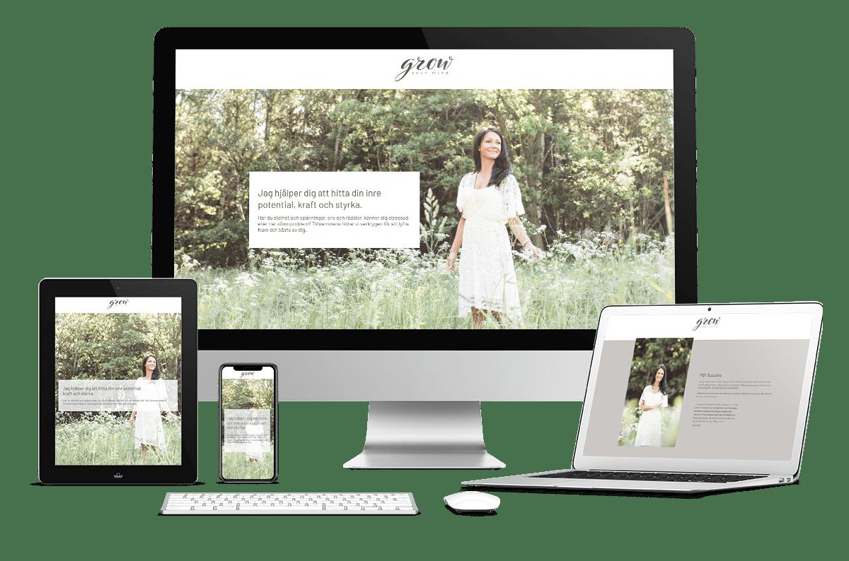 Digitalt Visitkort till Grow Your Mind