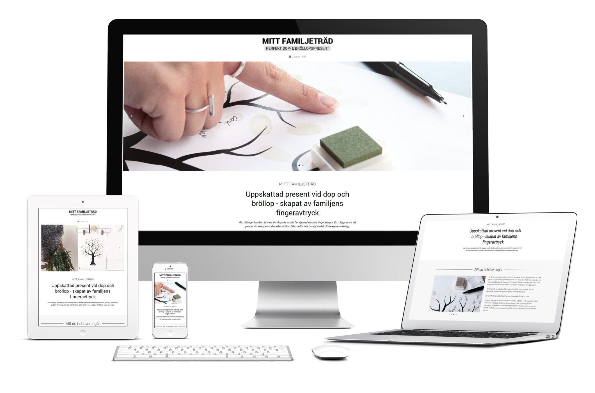 Digitalt visitkort med e-handel