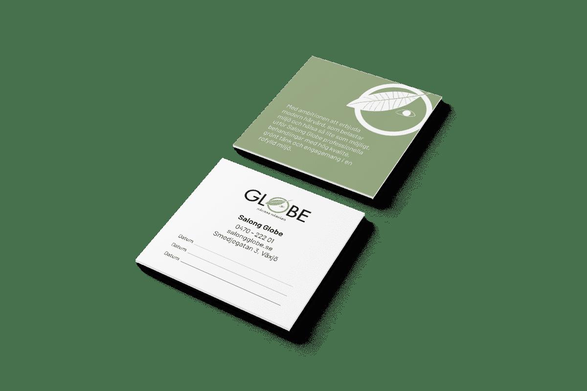 Tryck- och profilprodukter till Salong Globe