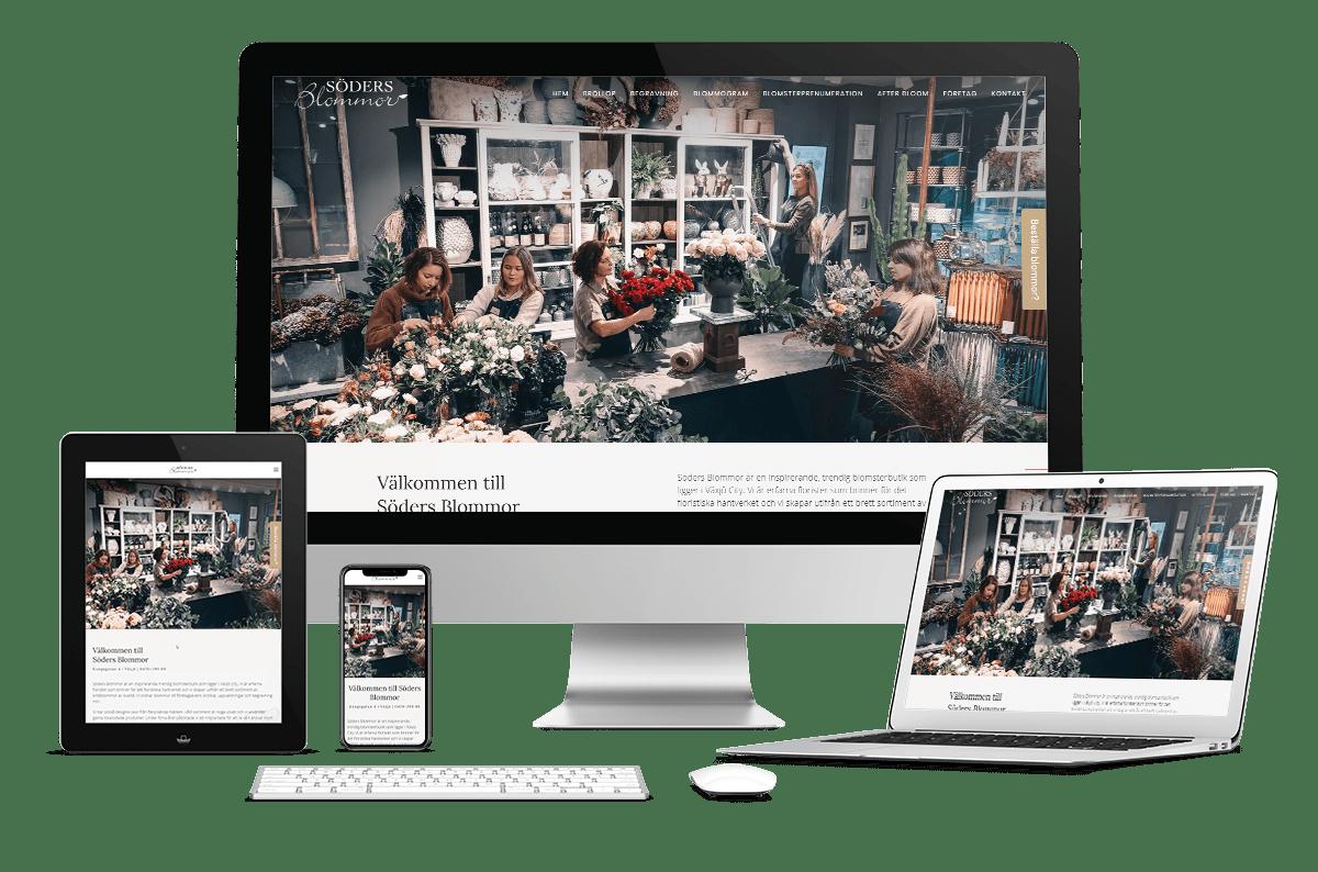 Ny webbplats till Söders blommor