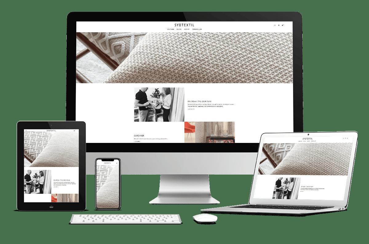 Webbplats med e-handel till Sydtextil